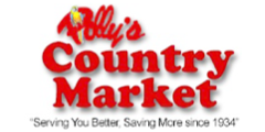 A theme logo of Polly's Country Market